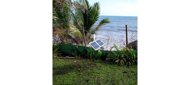 One of the 15 Cairnet stations installed in Martinique in September 2015