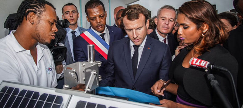 The inauguration of the Cairpol network of Gwadair by President MACRON