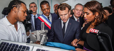 President Macron inaugurates the 24 Cairnet sensor network to measure Sargassum algae emanations