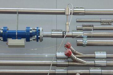 Velocity measurement of PVC granules