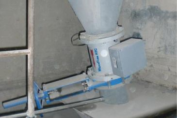 Mass flow measurement of raw meal