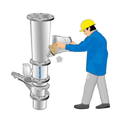Mass flow measurement for dry bulk solids