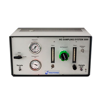 Sample conditioning system for natural gas