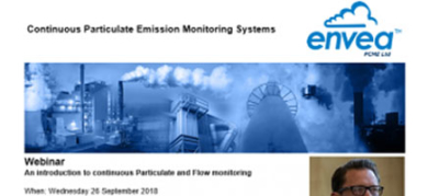 Webinar: An introduction to continuous Particulate and Flow monitoring